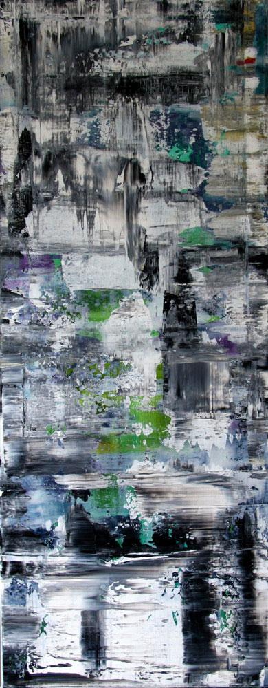 Gerhard Richter med på arbejde - blå