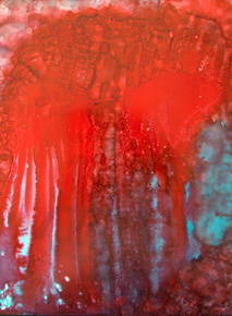 Blæk rød turkis w